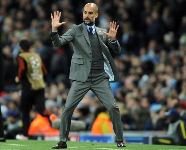 Na snímke tréner ManCity Pep Guardiola