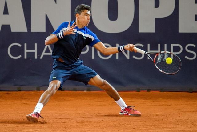 Na snímke brazílsky tenista Thiago Monteiro