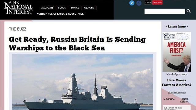 The National Interest: Priprav sa, Rusko: Veľká Británia posiela torpédoborec do Čierneho mora