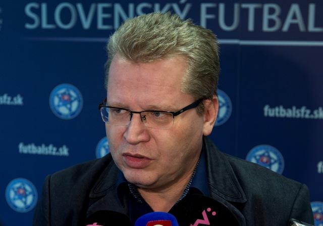 Na snímke hovorca Slovenského futbalového zväzu (SFZ) Juraj Čurný