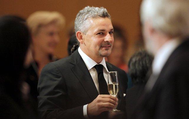 Na snímke talianska futbalová legenda Roberto Baggio