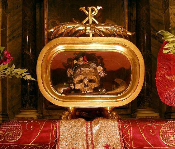 Ostatky sv. Valentína
