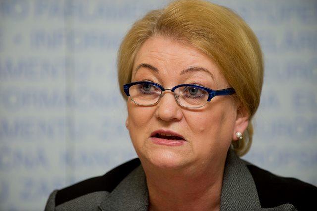 Na snímke poslankyňa Európskeho parlamentu Anna Záborská