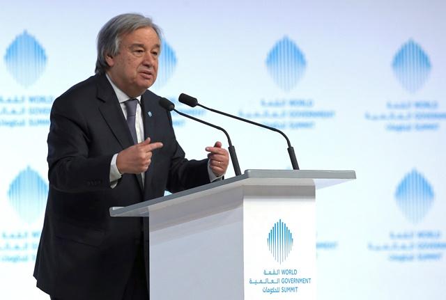 Na snímke generálny tajomník OSN António Guterres
