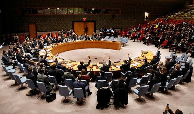 Na snímke členovia Bezpečnostnej rady OSN
