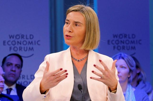 Na snímke šéfka EÚ pre zahraničnú politiku Federica Mogheriniová