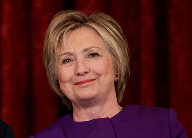 Na snímke Hillary Clintonová