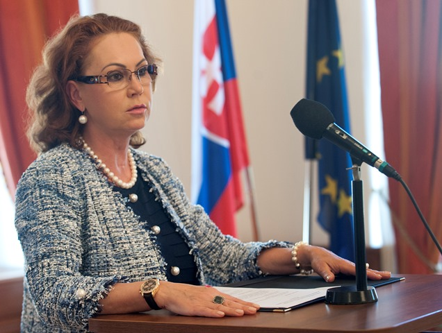 Na snímke predsedníčka Ústavného súdu Ivetta Macejková