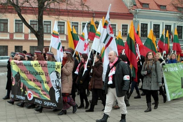"""V litovskom meste Kaunas sa uskutočnil """"pochod nacionalisticky naladenej mládeže"""""""