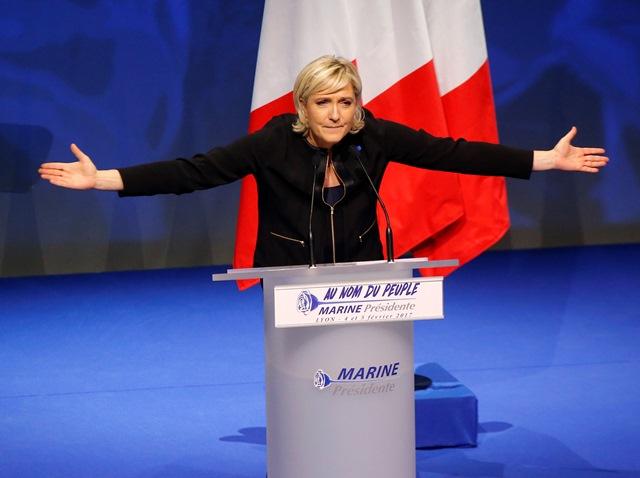 Líderka krajne pravicového Národného frontu (FN) Marine Le Penová