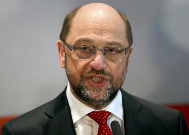 Na snímke predseda nemeckej Sociálnodemokratickej strany Nemecka (SPD)  Martin Schulz