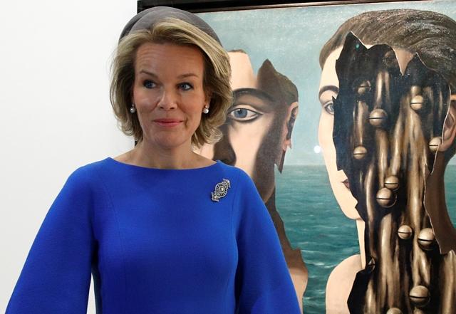 Na snímke belgická kráľovná Mathilde