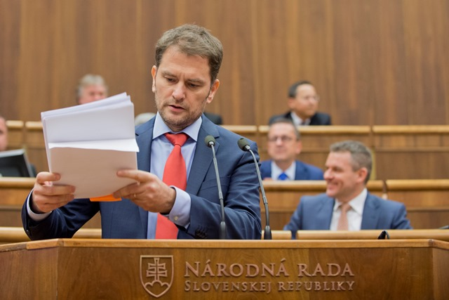 Na snímke poslanec za OĽaNO-NOVA Igor Matovič
