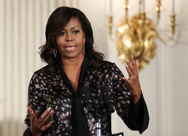 Na snímke bývalá prvá dáma USA Michelle Obamová