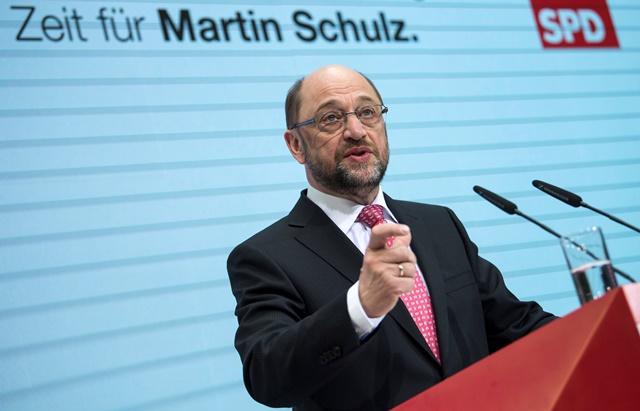 Kandidát nemeckej Sociálnodemokratickej strany Nemecka (SPD) na kreslo premiéra a bývalý predseda Európskeho parlamentu Martin Schulz