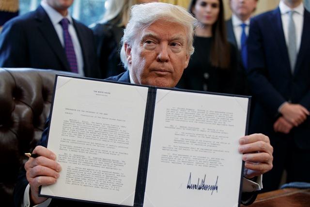 Na snímke prezident Donald Trump