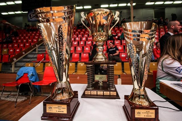 Trofeje o ktoré sa bude bojovať v Bratislave vo Final Eight Eurovia Budiš Slovenského pohára v dňoch 17. – 19.februára 2017.