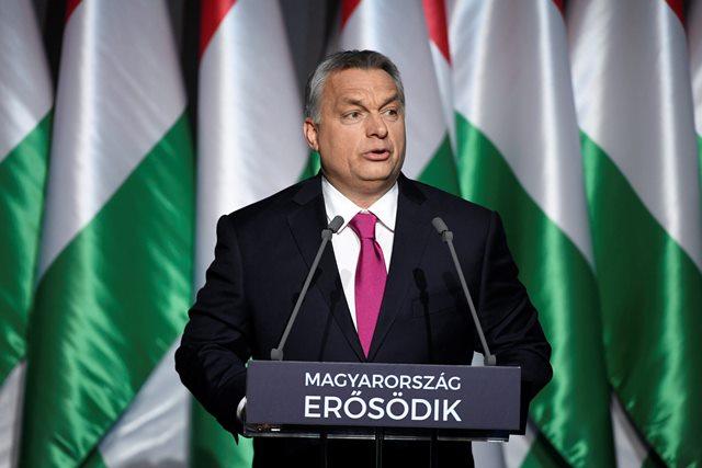 Na snímke maďarský premiér Viktor Orban