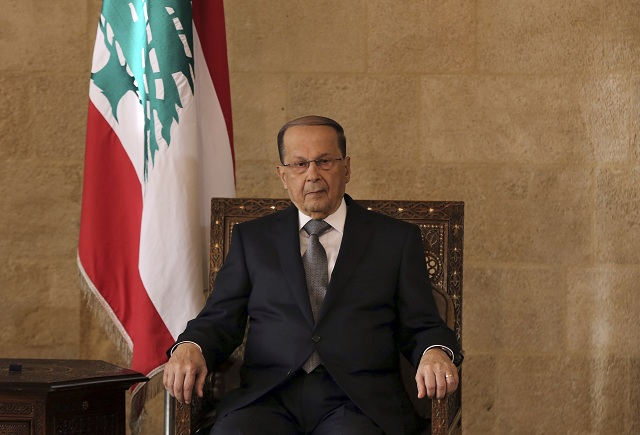 Novozvolený libanonský prezident Michel Aún