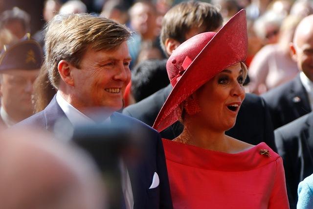 Na snímke holandský kráľ Willem Alexander a kráľovná Maxima