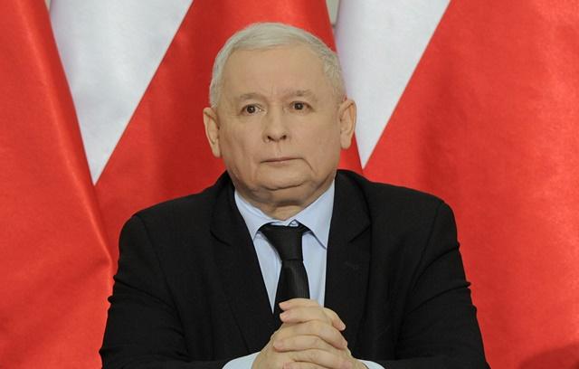 Vodca poľskej vládnucej strany Právo a spravodlivosť (PiS) Jaroslaw Kaczyňski