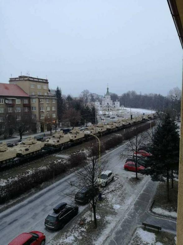 Konvoj prechádzal aj cez Prešov