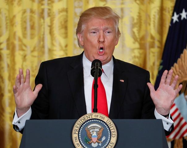Na snímke prezident USA Donald Trump