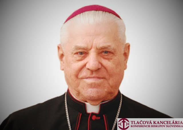 Na snímke emeritný biskup Jozef Zlatňanský