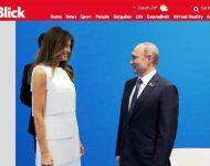 Na snímke fotografia Trumpovej a Putina s článku