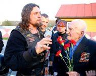 Na snímke Alexander Zaldostanov a Sergej Lap