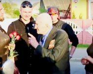 Na snímke Noční vlci s vojnovým veteránom Sergejom Lapom