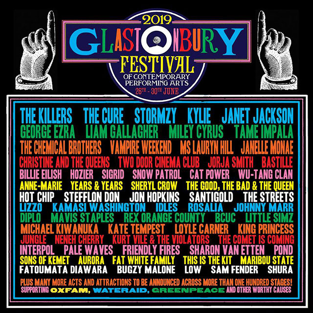 Headlinermi festivalu Glastonbury 2019 budú The Killers a The Cure ... 23883844bca