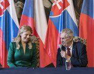 Na snímke Zuzana Čaputová a Miloš Zeman