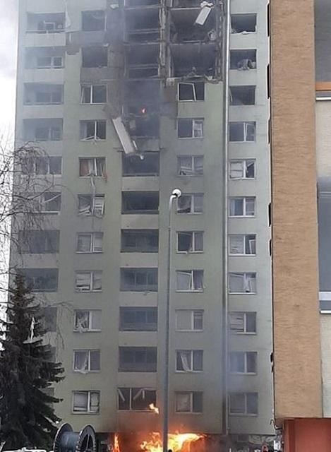 Budova po výbuchu plynu