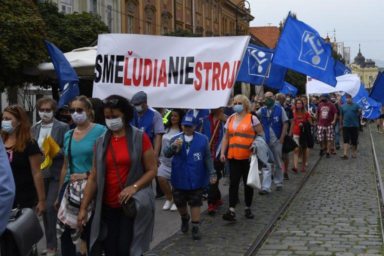 odbory, pracujúci, protest