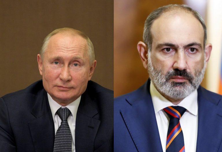 Vladimir Putin, Rusko, Nikol Pašinjan, premiér