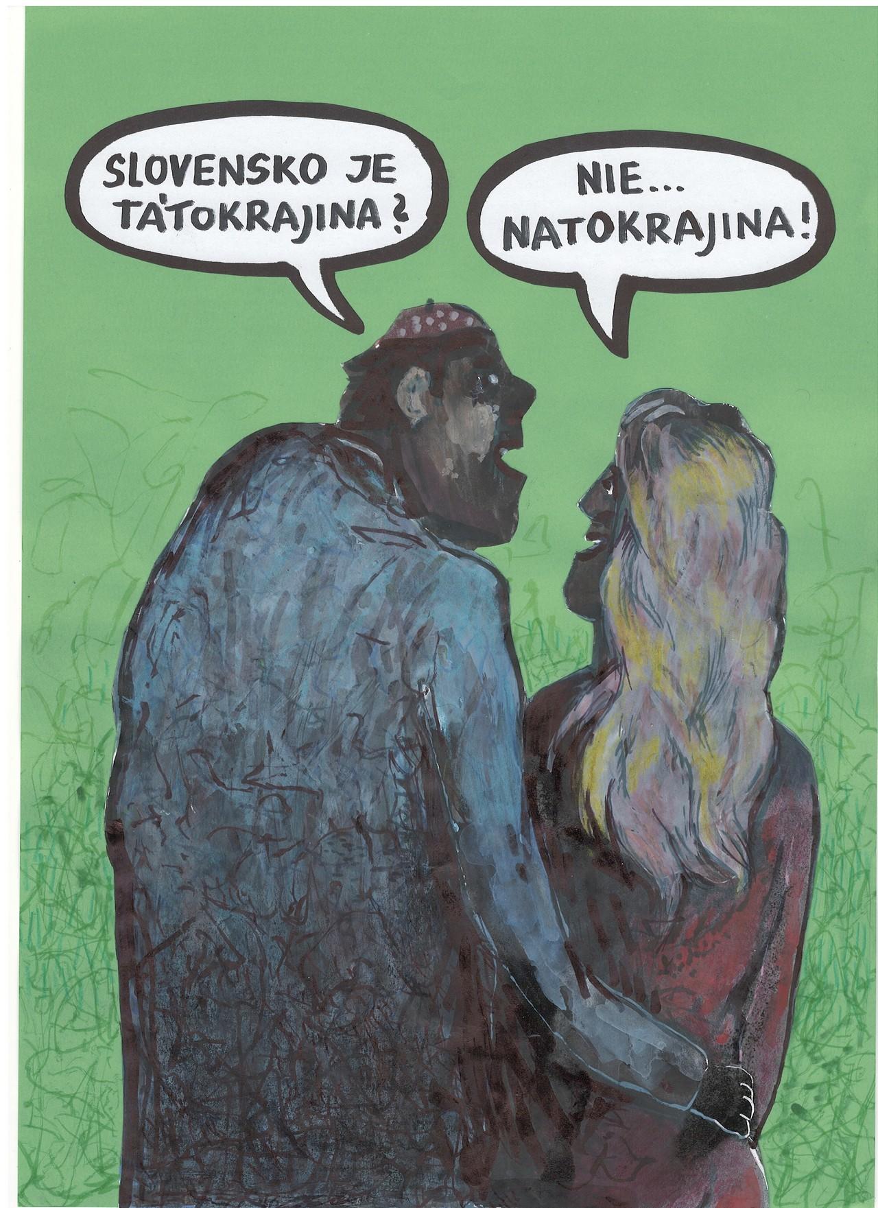 karikatúra, Andrej Mišánke