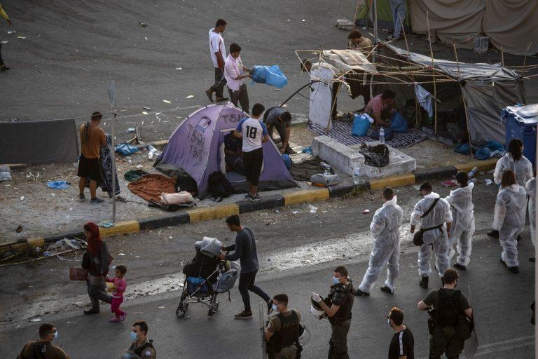 migranti, tábor, Grécko