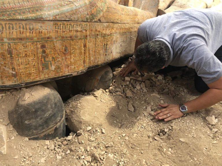 sarkofág, Egypt, objav