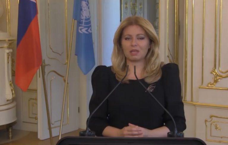 Zuzana Čaputová, prezident, prejav, OSN