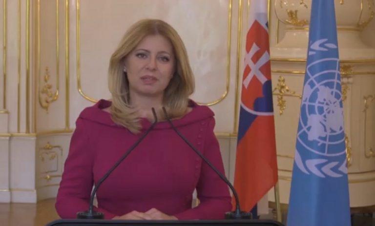 Zuzana Čaputová , prezidentka, prejav