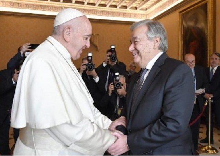 pápež a generálny sekretár OSN