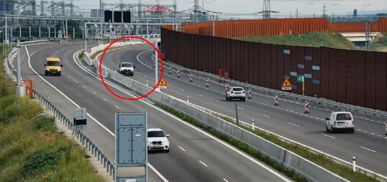 Vodič šiel po diaľnici D4 v protismere