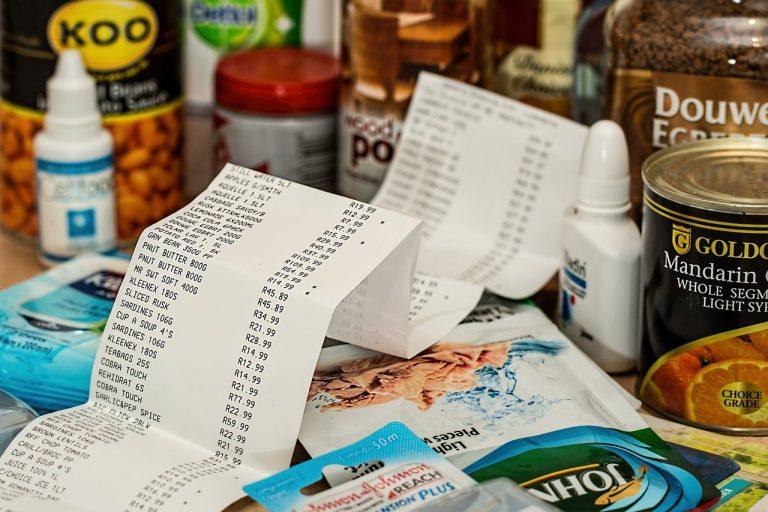 nákup účet bloček potraviny