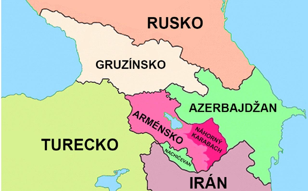 mapa Náhorný Karabach