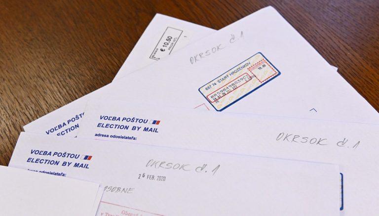 voľby poštou
