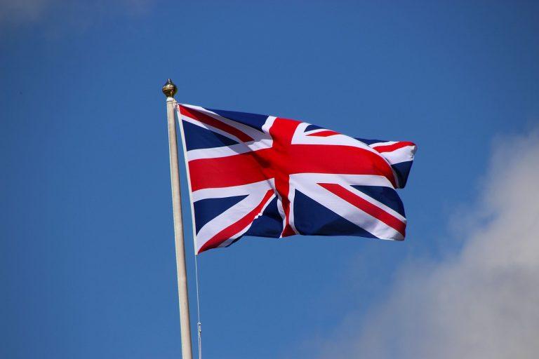 britská vlajka uk anglicko