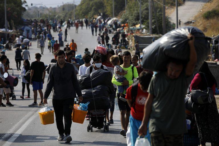 migranti lesbos sťahovanie