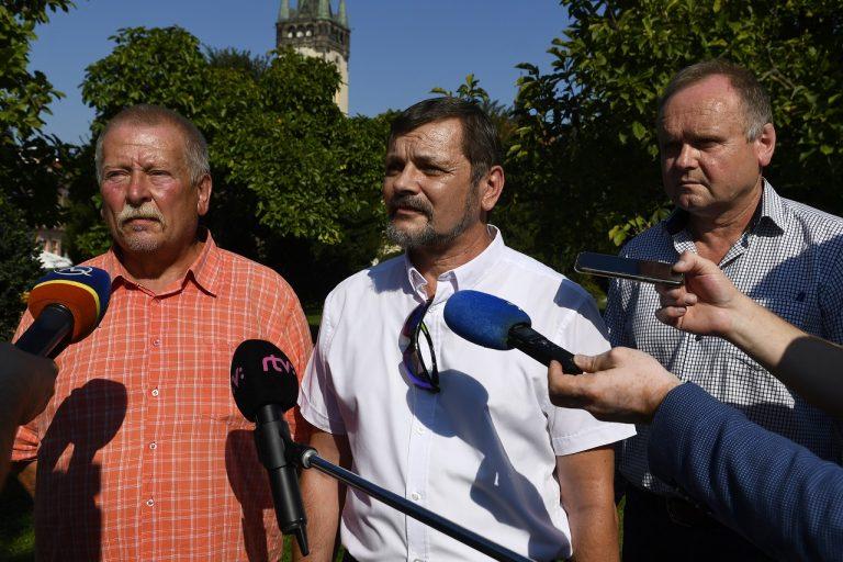 protest OZ KOVO v centre mesta Prešov