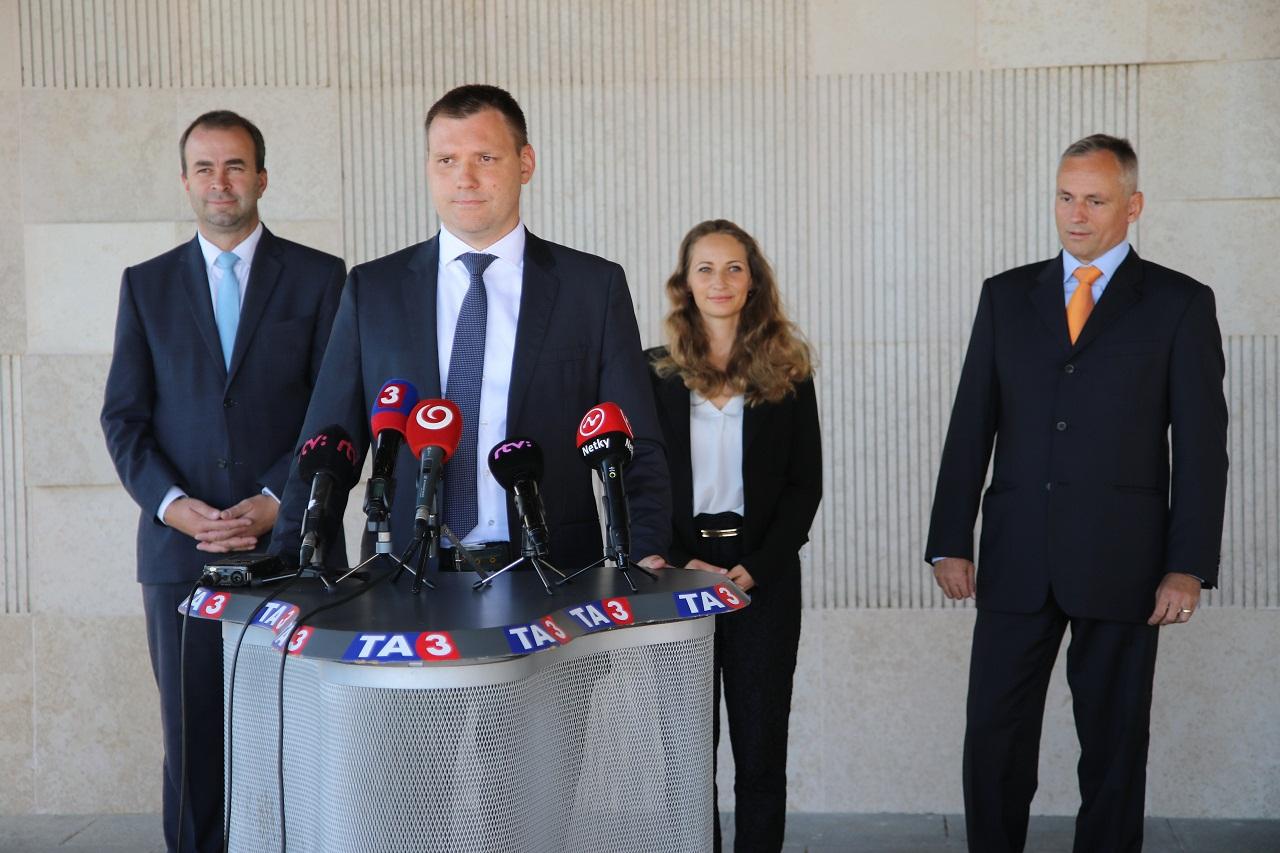 Ján Podmanický, Tomáš Taraba, Marica Pirošíková, Ján Čarnogurský ml.
